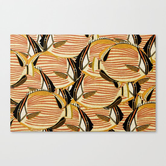 Crowd Fish 5 Canvas Print