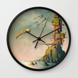 Island of nowhere Wall Clock