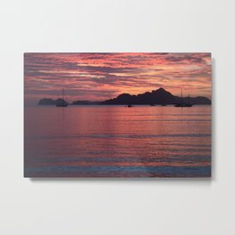 Palawan Sunset 2 Metal Print
