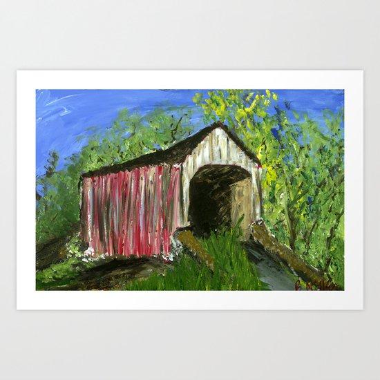 Erwinna Covered Bridge  Art Print