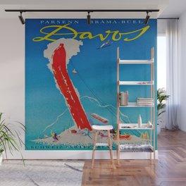 Davos Switzerland Ski Travel Wall Mural