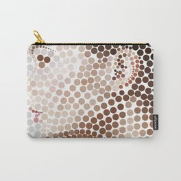 Profile Face Pointillism Art Carry-All Pouch