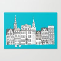 copenhagen Canvas Prints featuring Copenhagen by helena carrington