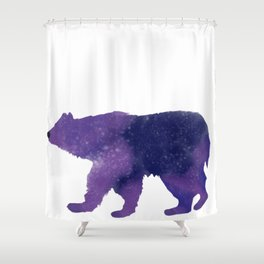 Some Bear Out There, Galaxy Bear Shower Curtain