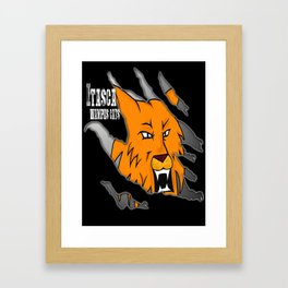 Itasca Wampus Cats Framed Art Print