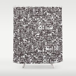 The Poet's Tower Shower Curtain