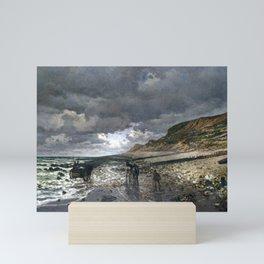 Claude Monet La Pointe de la Hève at Low Tide Mini Art Print