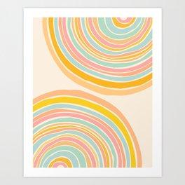 Rainbow Reflections / Colorful Geometric Art Print