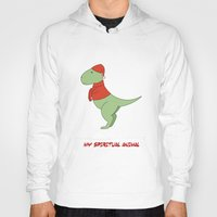 trex Hoodies featuring trex dinosaur funny arms by captainkittyspa