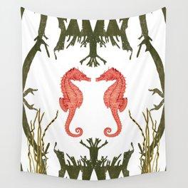 Mirroring Seahorses Wall Tapestry
