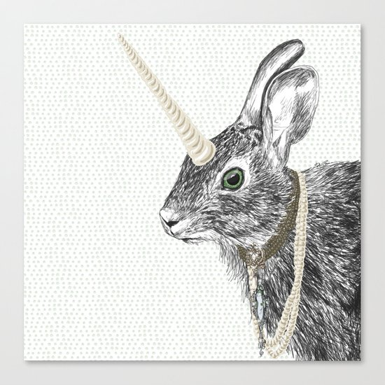 uni-hare All animals are magical Canvas Print