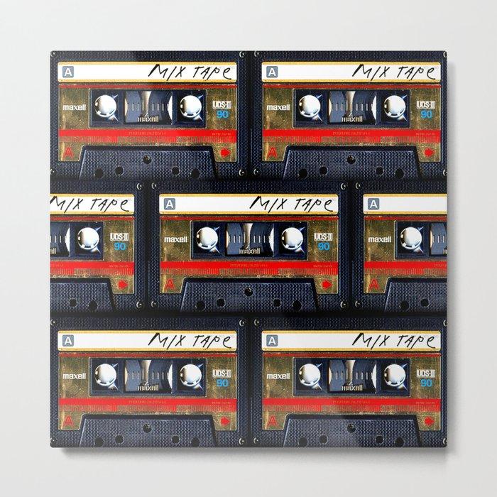 Retro cassette mix tape Metal Print - Square Metal Wall decor