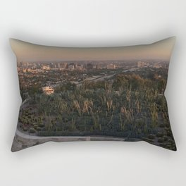 view from the getty Rectangular Pillow