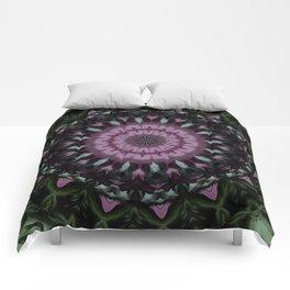Rose And Jade Geometric Fantasy Mandala Pattern Comforters