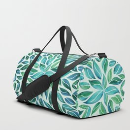Summertime Blues Leaf Burst Duffle Bag
