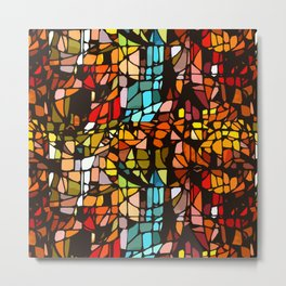 Stained, Colored, Scattered Metal Print
