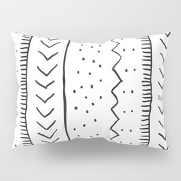Moroccan Stripe in Cream and Black Pillow Sham