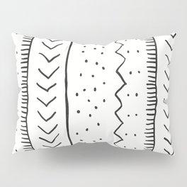 Moroccan Stripe in Cream and Black Pillow Sham