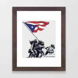 Planté Bandera Framed Art Print