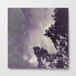 zwei drei violett Metal Print