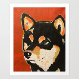 Kuma the Shiba Art Print