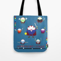 league Tote Bags featuring Peppermint League by Carieo's Creation