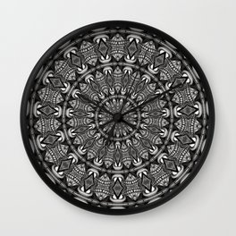 Monochrome Mandala Wall Clock