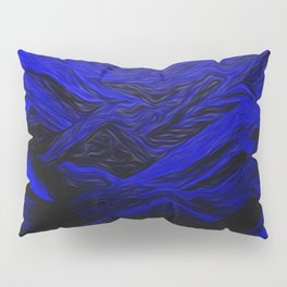 Cobalt Blue From Sand Pillow Sham