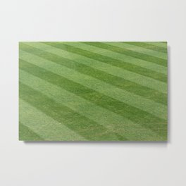 Play Ball! - Freshly Cut Grass Metal Print