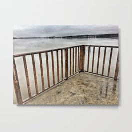 Lookout at Mississippi River, Illinois, Winter 2017 Metal Print