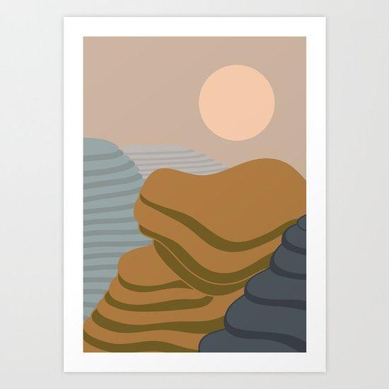 Terraced fileds Art Print