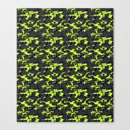 Neon Yellow Camo Canvas Print