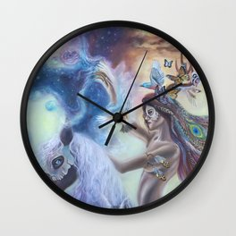 Spirit Warrior Wall Clock
