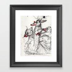 Frothing Framed Art Print