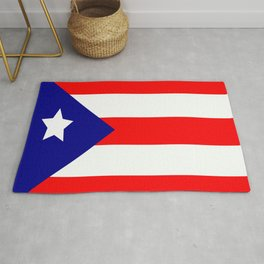Flag of Puerto Rico Rug