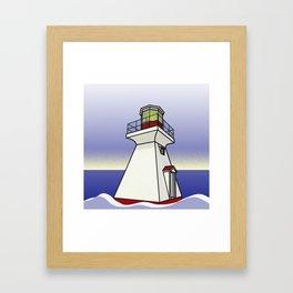 Lighthouse Sea Scene Framed Art Print