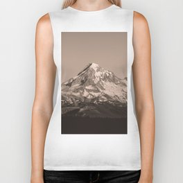 Mount Hood - Black and White - nature photography Biker Tank