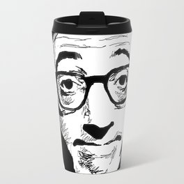 Woody Allen by Burro Travel Mug