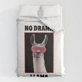 Llama with sunglasses Comforters