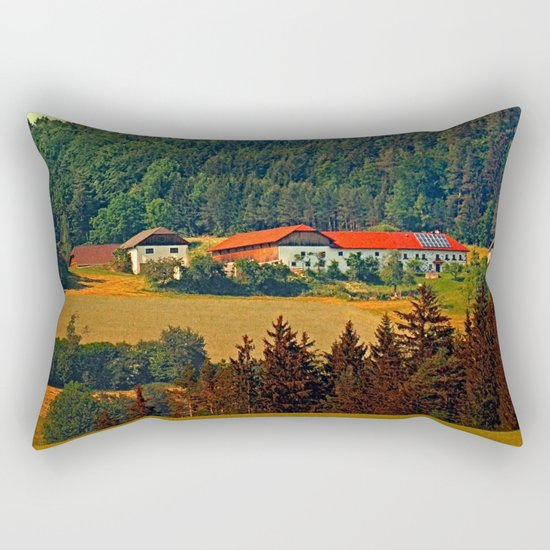 Farm taking an afternoon nap Rectangular Pillow