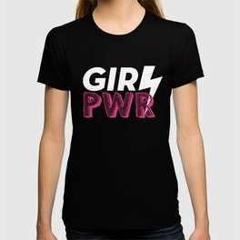 GRL PWR Hot Pink Typography T-shirt