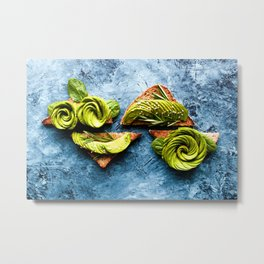 Avocado Foodie Art Metal Print