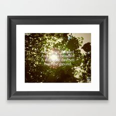 Words & Pictures #2 - From the Morning Framed Art Print
