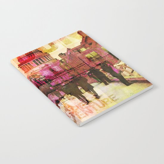 London St. Pauls Cathedral modern illustration typography Notebook