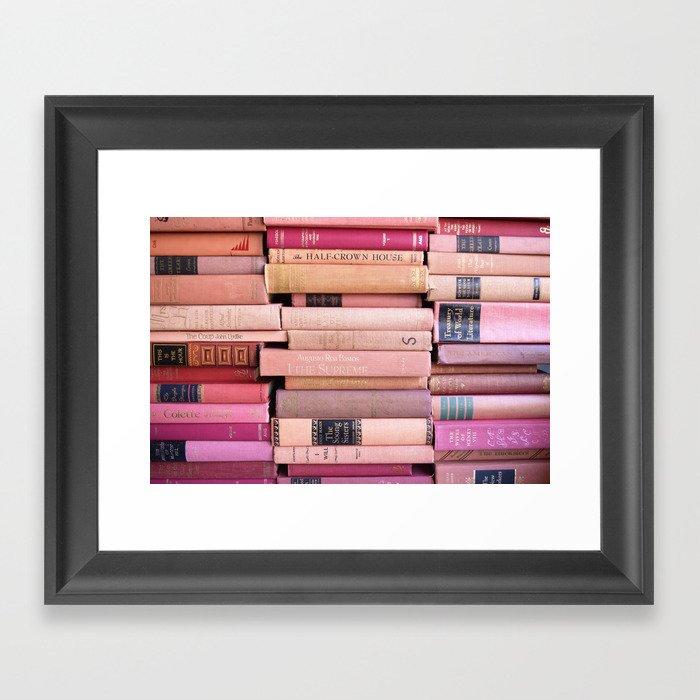 Vintage Pink Stacks Gerahmter Kunstdruck