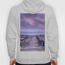 """To the beach...."" Purple sunset Hoody"