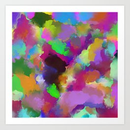 Expression Of Colour - Abstract, modern painting Art Print