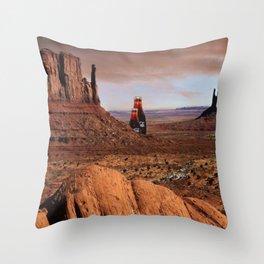 Coke In The Desert  Throw Pillow
