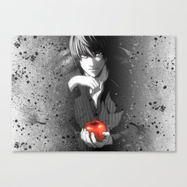 Death Note Light Yagami Canvas Print