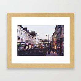 vibrant streets Framed Art Print